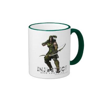 Green Arrow Ringer Mug