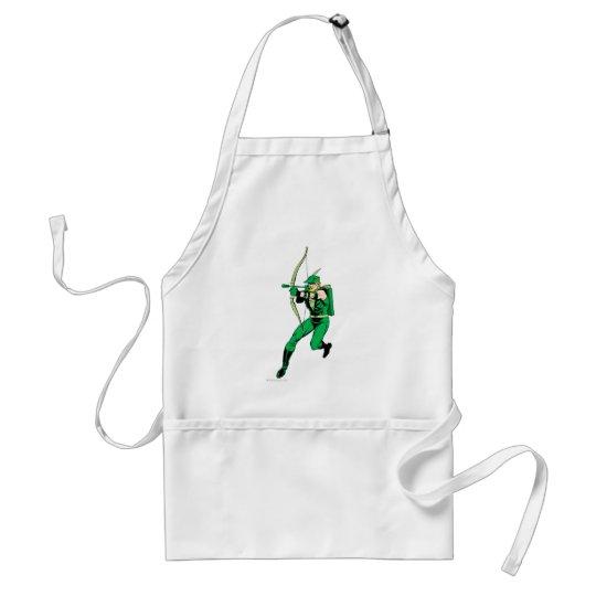 Green Arrow Shooting Arrow Adult Apron
