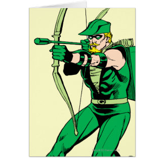 Green Arrow Shooting Arrow Card