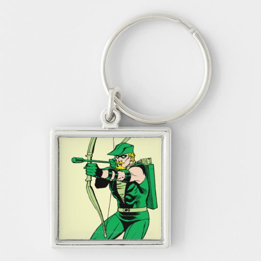 Green Arrow Shooting Arrow Key Chains