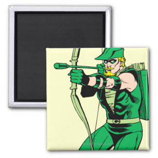 Green Arrow Shooting Arrow Fridge Magnets