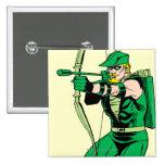 Green Arrow Shooting Arrow Pinback Button