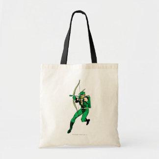 Green Arrow Shooting Arrow Tote Bag