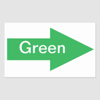 Green Arrow Sign Sticker