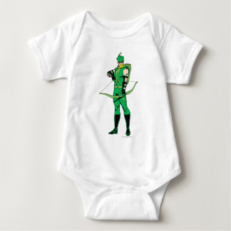Green Arrow Standing with Bow Baby Bodysuit