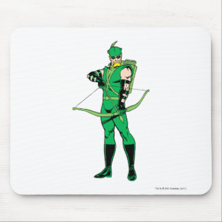 Green Arrow Standing with Bow Mouse Pad