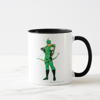 Green Arrow Standing with Bow Mug