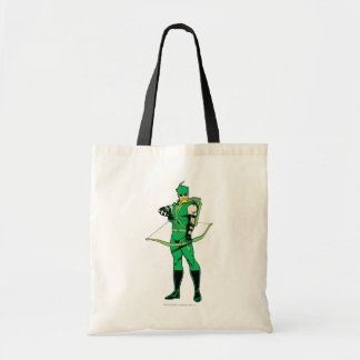 Green Arrow Standing with Bow Tote Bag