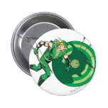 Green Arrow with Target 2 2 Inch Round Button