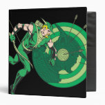 Green Arrow with Target 2 3 Ring Binder