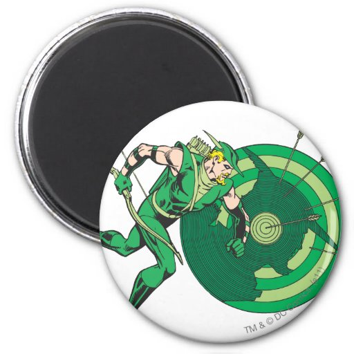 Green Arrow with Target 2 Magnet