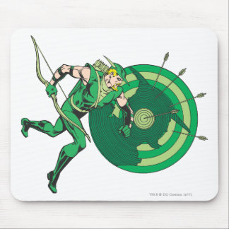Green Arrow with Target 2 Mouse Pad