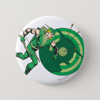 Green Arrow with Target 2 Pinback Button