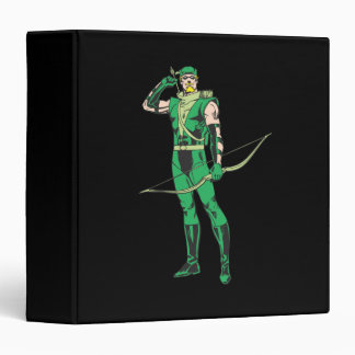 Green Arrow with Target 3 Ring Binders