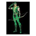 Green Arrow with Target Greeting Card
