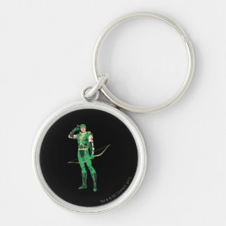 Green Arrow with Target Keychain