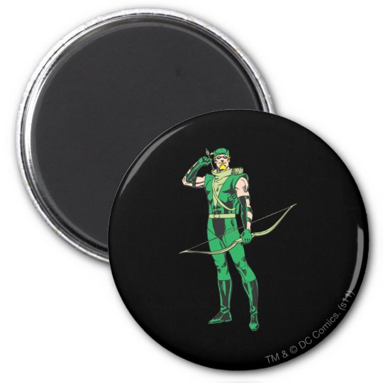 Green Arrow with Target Magnet