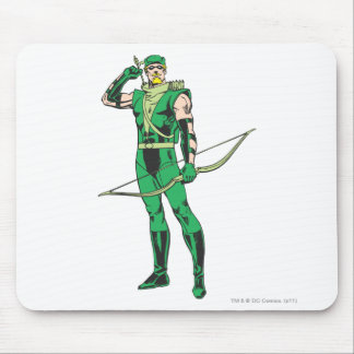Green Arrow with Target Mouse Pad