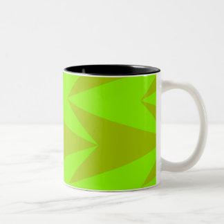 Green Arrowheads Two-Tone Coffee Mug
