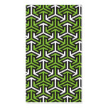 Green arrows bookmark business cards