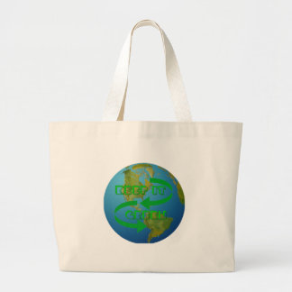 Green arrows Ecology Tote Bags