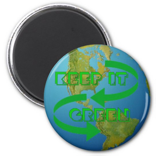 Green arrows Ecology Magnet