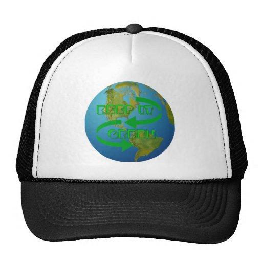 Green arrows Ecology Trucker Hat