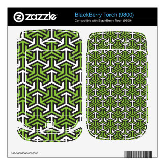 Green arrows decal for BlackBerry
