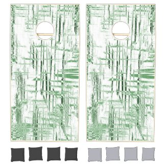 Green Art Deco Cornhole Set