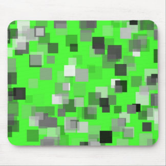Green Art Deco Mouse Pad