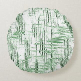 Green Art Deco Round Pillow