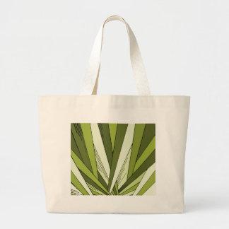 Green Art Deco Sunrise Design Large Tote Bag