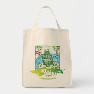 """Green """"Art for a Cause"""" Tote  $15.95 Canvas Bag"""
