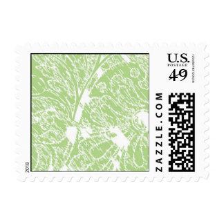 Green Art nouveau Stamp