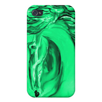 Green Art Phone Case Covers For iPhone 4
