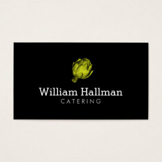 Green Artichoke Logo Catering/Chef 2 Business Card