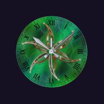Green As the Grass Clock
