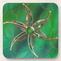 Green As the Grass Cork Coaster