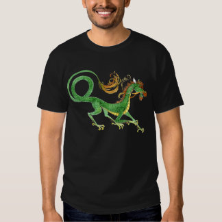 Green Asian Dragon shirt