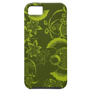 green asian leaf design iphone 5 case