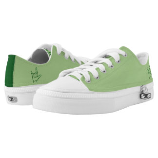 Green ASL I Love You Lo Top