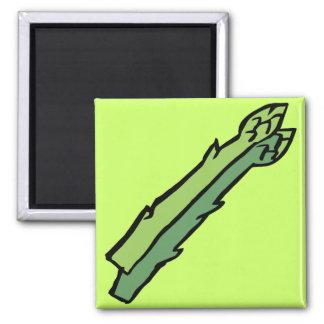 Green asparagus refrigerator magnet