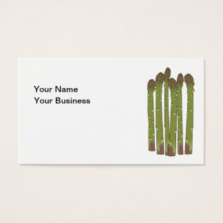 Green Asparagus Spears Vegetable Lover Business Card