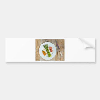 Green asparagus with ham and sauce bumper sticker