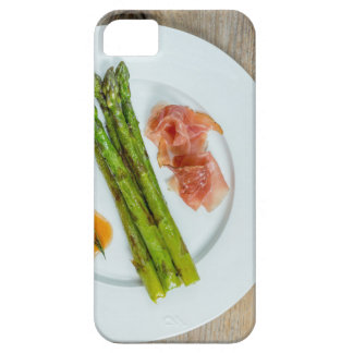 Green asparagus with ham and sauce iPhone SE/5/5s case