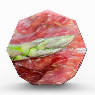 Green asparagus with ham macro award