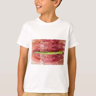 Green asparagus with ham macro T-Shirt
