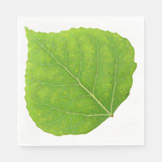 Green Aspen Leaf #11 Paper Napkin