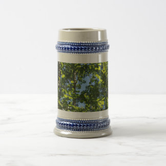 Green Aspen Poplar Leaves in Summer Beer Stein
