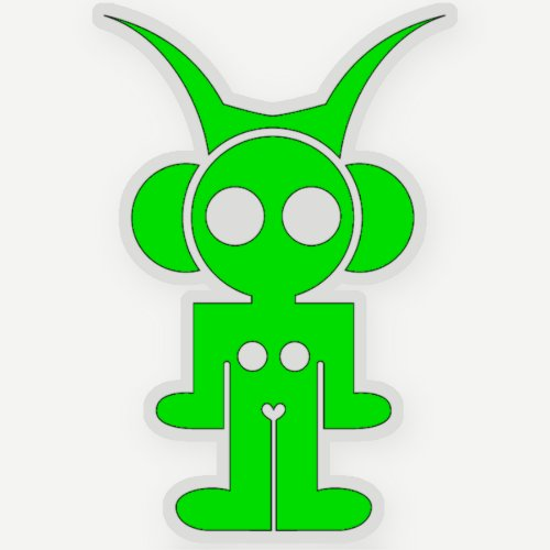 green astro sticker